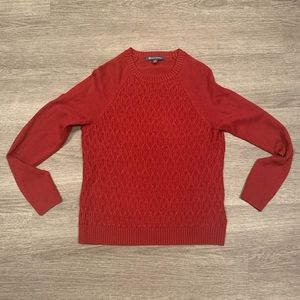 [Brooks Brothers] Red Cable Knit Sweater